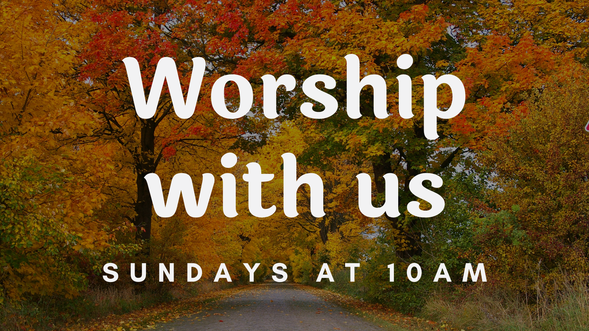October Worship With Us