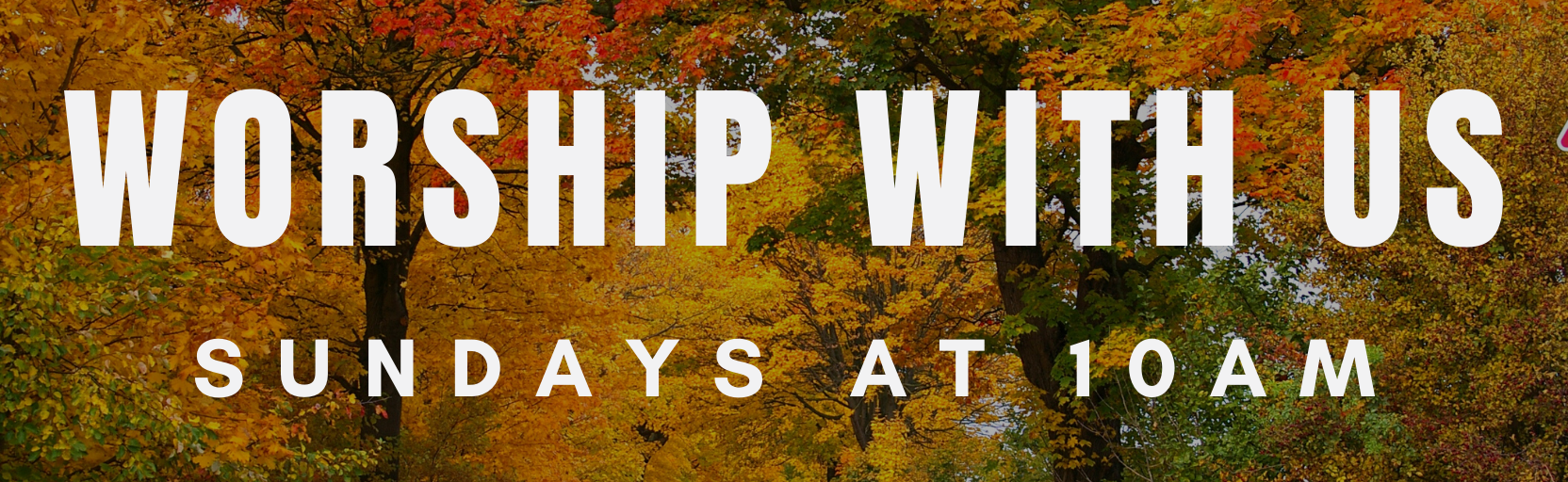 october In-person worship Sign